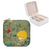 Beavis And Butthead Joyero de piel sintética pequeño portátil de viaje, caja de almacenamiento de joyas para collar, pendientes, anillos, joyería para niñas y mujeres
