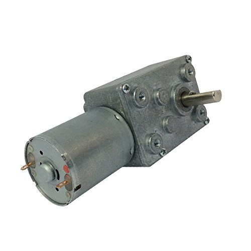 BEMONOC 12V 5Rpm DC Worm Reduction Geared Motor Ultra Low Speed Electric Motor for DIY