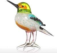 装飾品ギフトガラス動物置物ミニチュア置物ハンドブラウン家の装飾現代小さな鳥の装飾家の装飾アクセサリー 美しくスタイリッシュ