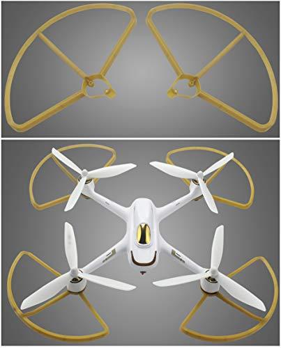 Propeller/Schutzabdeckung Zubehör, Für HUBSAN H501S X4 Teile Set Ersatzteile Protective cover + Propeller gold
