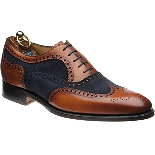 Herring Herring Farnham - Zapatos de cordones para hombre Chestnut and Navy, color, talla 40.5