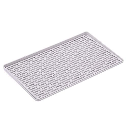 DJY-JY Placa del estante del estante del plato ABS antideslizante Plato de almacenamiento en rack rack de verduras de drenaje Alimentación Cocina desagüe del cajón Organizador (Color: gris, tamaño: 40