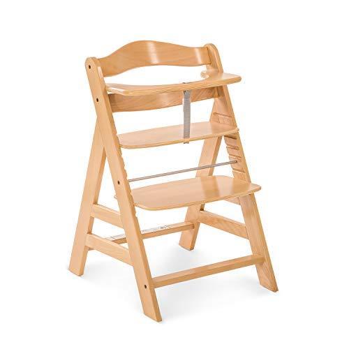 Hauck - Chaise-Haute Alpha+ - Grandit avec L'Enfant - Réglable en Hauteur - en Bois - Nature - Utilisable Jusqu'À 90 kg - Utilisable à Partir de 6 mois