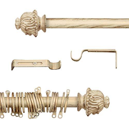 AT17 Bastone per Tende Shabby Chic Gold Empire Collection 120-210 cm
