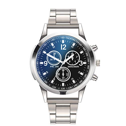 WoWer Herren Armbanduhr Männer Analog Quarzuhr Uhr Schwarz Braun Retro Stil Kunstleder mit Batterie