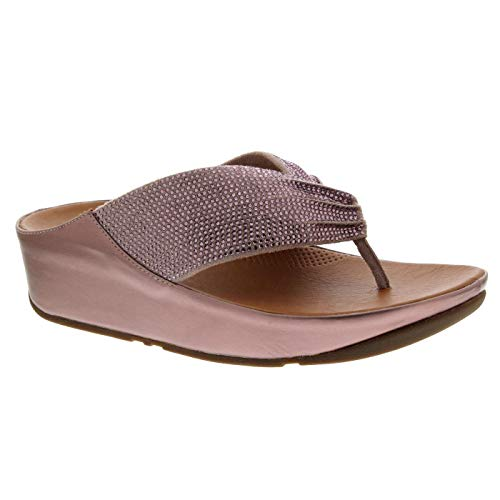 Fitflop Twiss Crystal, Sandalias para Mujer, Rosa (Oyster Pink 673)