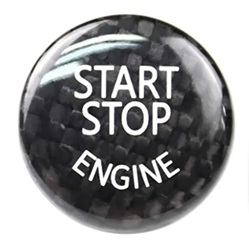 prasku Ajuste de La Cubierta Del Botón de Parada Del Arranque Del Coche Del Motor de One Buttons para E Negro
