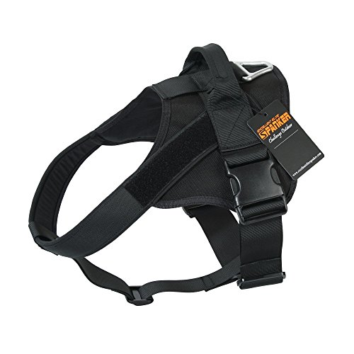 EXCELLENT ELITE SPANKER Tactical Dog Harness Patrol K9 Harness Service Dog Vest Military Dog Vest Working Dog Vest with Handle(Black-S)