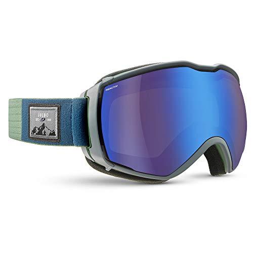Julbo Aerospace skibril met reactief display, fotochromatisch en gepolariseerd, voor heren, groen/grijs, XL