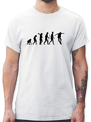 Evolution - Skateboard Evolution Ollie - L - Weiß - Evolution Skateboard Shirt - L190 - Tshirt Herren und Männer T-Shirts