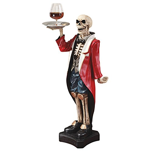 Design Toscano der englische Butler Bones - Figur, Maße: 30.5 x 35.5 x 91.5 cm 7.75 kg
