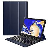 MoKo Funda para Samsung Galaxy Tab S4 10.5 Teclado, Cubierta con Soporte para S Pen, Protector de Teclado Inalámbrico para Galaxy Tab S4 10.5 Inch (SM-T830 and SM-T835) 2018 Release, �ndigo