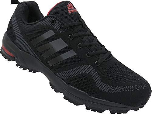 Herren Sportschuhe Sneaker Turnschuhe Schuhe Übergröße gr.47-49 Art.-Nr.1388 schwarz-d.grau (48)