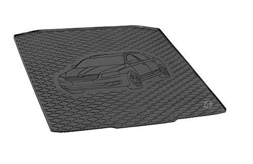 Passgenau Kofferraumwanne geeignet für Skoda Octavia III Kombi ab 2013 ideal angepasst schwarz Kofferraummatte + Gurtschoner