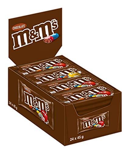 M&M'S | Choco | Schokolinsen | 24 Packungen (24 x 45 g)
