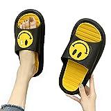 ZHIZI Chanclas Zapatillas de Ducha para Mujer Zapatos de Agua de Secado rápido Antideslizantes Ligeros (Color : Black, Size : US8/EU40/UK6.5)