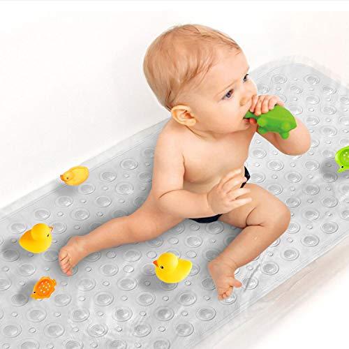 Sheepping Baby Bath Mat Non Slip Extra Long Bathtub Mat for Kids 40 X 16 Inch - Eco Friendly Bath...