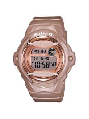 Casio Women s BG169G-4 Baby G Pink Champagne Watch