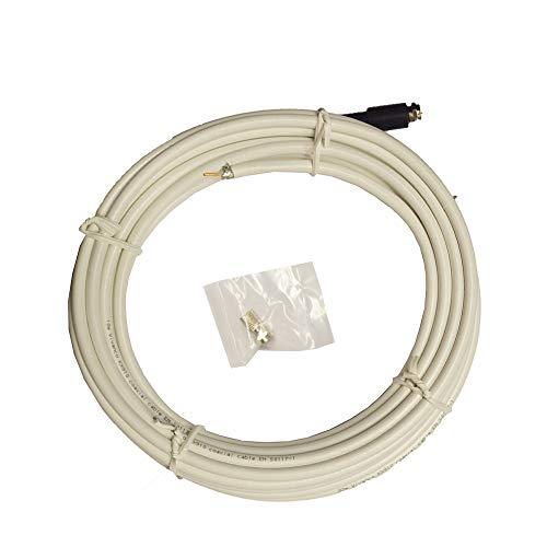 Cable de Antena Sat VIVANCO 4496 Color Blanco, con Accesorios, 10m