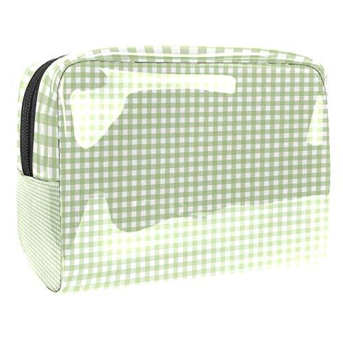 TIZORAX Sac à cosmétiques carrés en PVC Vert