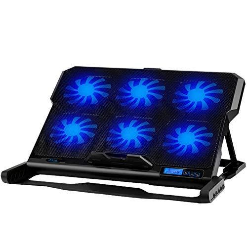 LKK-KK Laptop Cooling Pad Enfriador portátil Seis Ventilador de refrigeración y 2 Puertos USB Laptop Cooling Pad Notebook Stand Durante 13-16 for el Ordenador portátil