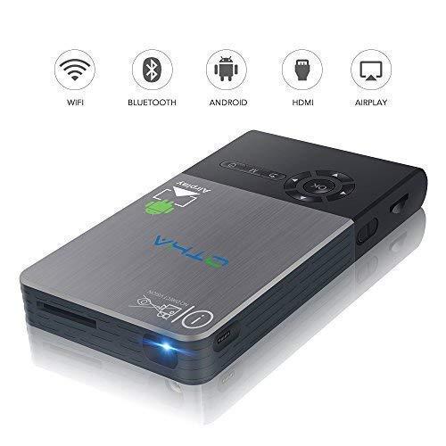 Mini Proiettore OTHA 32GB WIFI Wireless Android 7.1 cinematografico Videoproiettore Supporta 1080P / HDMI / Bluetooth / USB / TF TV vieni con telecomando e treppiede