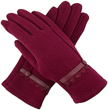 Women Winter Touchscreen Gloves Soft Comfortable for Driving Texting Fingers Windproof Gloves
