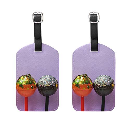 Lollipops - Juego de 2 etiquetas de equipaje de viaje para maleta