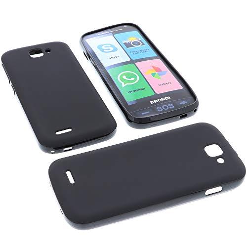 foto-kontor Custodia per cellulari Brondi Amico Smartphone (Non per Amico Smartphone 4G) in Gomma TPU di Colore Nero