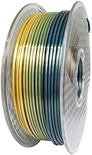 KEHUASHINA Silk Pla Filament for 3D Printer and Pens, 1kg - 1.75mm Diameter Filament (Rainbow)
