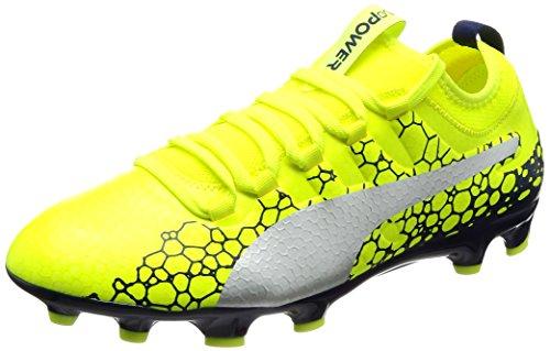PUMA Herren EvoPower Vigor 3 Graphic AG Fußballschuhe, Gelb (Safety Yellow-Silver-Blue Depths), 43 EU