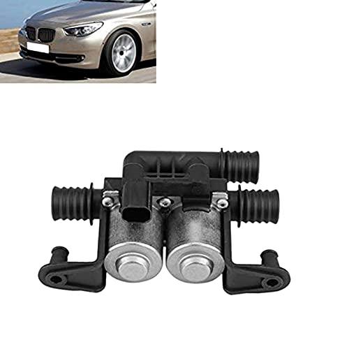 BINGFANG-W Válvula de control del calentador de automóviles Accesorios de dos solenoides de solenoide dual para for BMW 5 Series E38 E39 E46 E53 X5 6412837499 (Color : Black and Silver)
