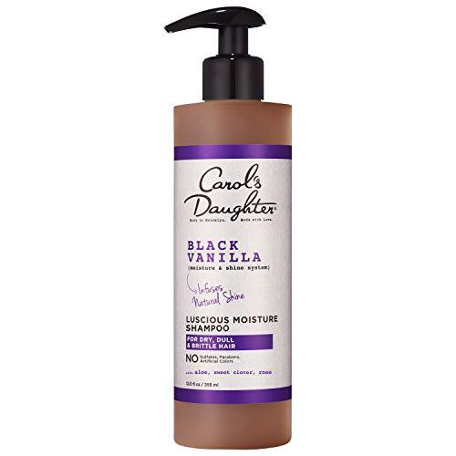 Carol's Daughter Black Vanilla Moisture & Shine Shampoo for Dry Hair, with Aloe and Rose, Sulfate Free Shampoo, 12 fl oz