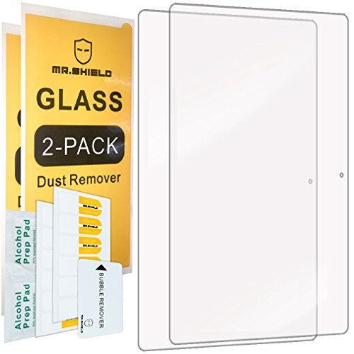 [2-PACK]-Mr.Shield For Lenovo Yoga Book 10.1 Inch [Tempered Glass] Screen Protector [0.3mm Ultra Thin 9H Hardness 2.5D Round Edge] with Lifetime Replacement
