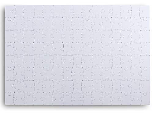 Blankopuzzle mit magnetischen Teilen zum selbst bemalen oder verzieren - 120 Teile (ca. 29 x 20 cm) - Magnetpuzzle, Ideal für Kühlschrank oder Tafel