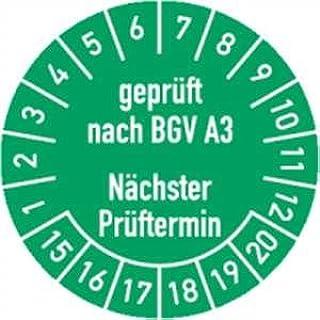 Prüfplaketten Jahresplaketten Ø 20//30//35mm verschiedene Farben