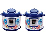 Pioneer Woman Instant Pot 6qt 6 Quart Programmable Pressure Cooker Slow Electric Multi Use Rice Saute Cooking Steamer Warmer (2, Breezy Blossom)