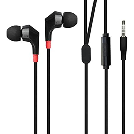 Superior Sound Earbuds Hands-Free Earphones w Mic Dual Headphones Headset in-Ear Wired 3.5mm [Black] for Amazon Fire HD 10, 8, Kindle DX, Fire, HD 6, 7, 8.9, HDX 7, 8.9