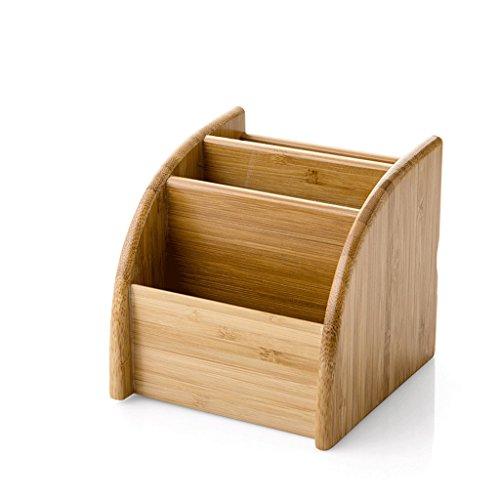 DNSJB Caja De Almacenamiento De Escritorio De Bambú, Escritorio, Sala De Estar, Mesa De Centro, Partición, Almacenamiento, Control Remoto (Size : 11.3 * 11.8 * 11cm)