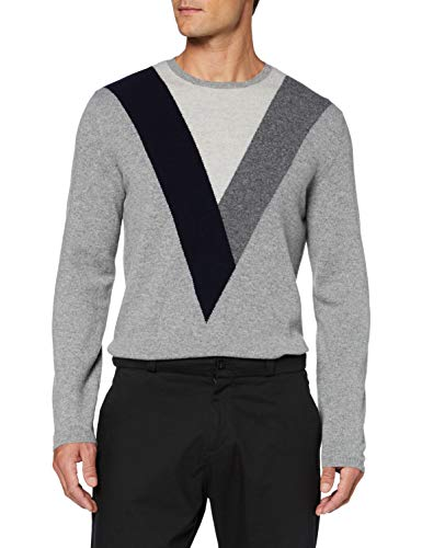 FALKE Herren Golf Pullover, Grey Heather, S