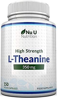 L-Theanine 350mg, 150 (5 Month Supply) L-Theanine Capsules - Non GMO, Vegan and Allergen Free - Caffeine Free - Made in The UK by Nu U Nutrition