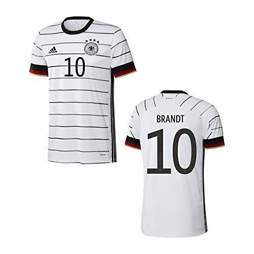 adidas DFB Deutschland Trikot Home EM 2020 Kinder inkl. Original Flock (Brandt + 10, 152)