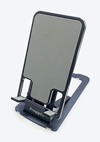 Froggen Supporto Telefono Pieghevole, Supporto Regolabile Telefono, Porta Cellulare da Tavolo, Stand Regolabile, per 12 Mini, 12 PRO Max, Altri Smartphone