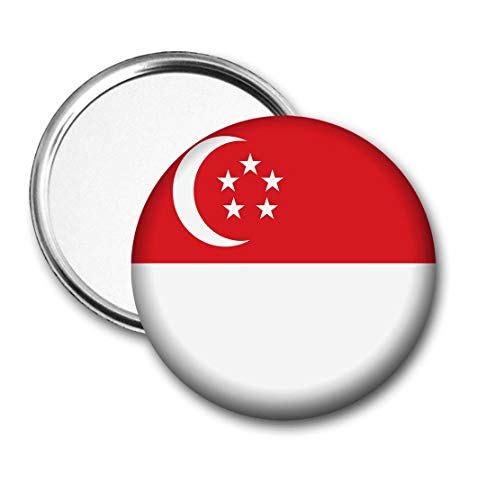 Singapore Vlag Pocket Spiegel voor Handtas - Handtas - Gift - Verjaardag - Kerstmis - Stocking Filler - Secret Santa