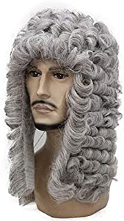 Wig Judge Baroque Nobleman Curls Historical Black Blonde G Curls Historical Syntheticwigs 56 14inches