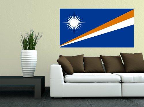 Kiwistar Wandtattoo Sticker Fahne Flagge Aufkleber Marshallinseln 120 x 63cm