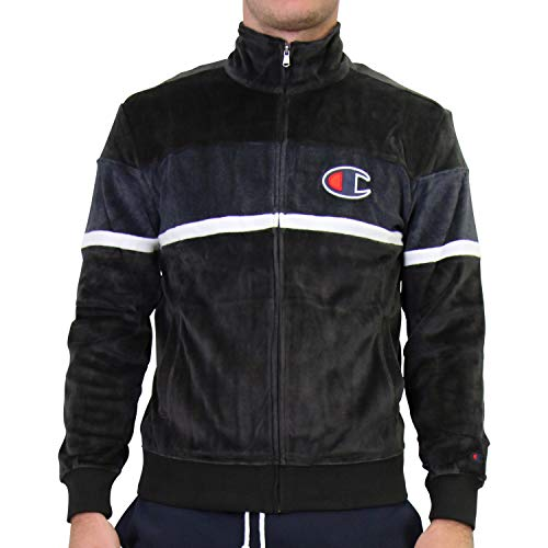 Champion Herren Full Zip Trainings Jacke Schwarz L