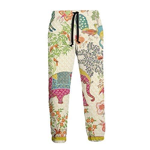 QUEMIN Le Jardin De Mysore Pantalones Deportivos con Estampado Unisex Pantalones Deportivos Casuales Pantalones con gráficos Pantalones Deportivos con cordón