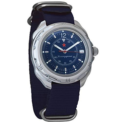 Vostok Komandirskie 211398 - Reloj de pulsera para hombre, esfera azul oscuro