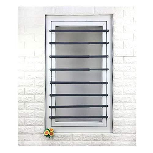 QIANDA Fenster Bars Fürs Kleinkind Sicherheitsgitter Kindersicherheit Fensterschutz, Mehr Größen (Color : A, Size : 6 PIECEC)